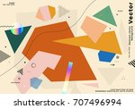 cover template with bauhaus ... | Shutterstock .eps vector #707496994