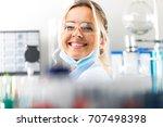portrait of happy young... | Shutterstock . vector #707498398