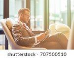 business trip. confident... | Shutterstock . vector #707500510