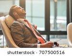 before the flight. pleasant... | Shutterstock . vector #707500516