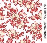 flower illustration pattern   Shutterstock .eps vector #707501170