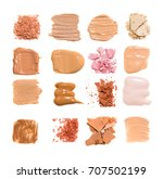 foundation color sample on... | Shutterstock . vector #707502199