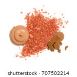 spilled rouge and poured...   Shutterstock . vector #707502214