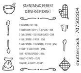 baking units conversion chart   ... | Shutterstock .eps vector #707502304