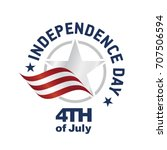 independence day usa logo star... | Shutterstock .eps vector #707506594