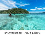 beautiful beach in thailand    Shutterstock . vector #707512093