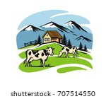 vector image of village and... | Shutterstock .eps vector #707514550