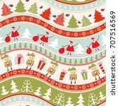 christmas seamless colorful... | Shutterstock .eps vector #707516569