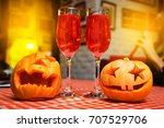 halloween pumpkin. halloween.... | Shutterstock . vector #707529706
