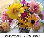 Floral Arrangement On A Table...