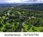 top view of parks in st.... | Shutterstock . vector #707535790