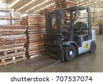 forklift in the factory