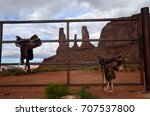 Monument Valley And Horse...