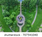 top view of parks in st.... | Shutterstock . vector #707541040