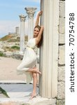 young woman in greek style near ... | Shutterstock . vector #70754788