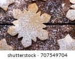 holiday baking background ... | Shutterstock . vector #707549704