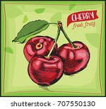 eco food labels set. hand drawn ...   Shutterstock .eps vector #707550130