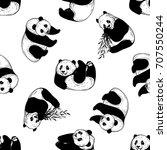 seamless pattern of sketch...   Shutterstock .eps vector #707550244