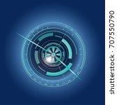futuristic  eye effect for... | Shutterstock .eps vector #707550790