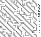 vector seamless pattern. modern ... | Shutterstock .eps vector #707556163