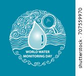 world water monitoring day | Shutterstock .eps vector #707559970