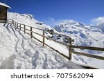 snow mountain  | Shutterstock . vector #707562094