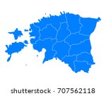 map of estonia | Shutterstock .eps vector #707562118