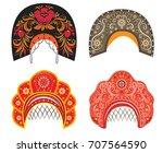 vector ethnic old russian... | Shutterstock .eps vector #707564590