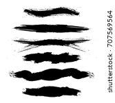 vector grunge brush element .... | Shutterstock .eps vector #707569564