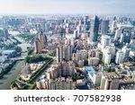 a bird's eye view of shanghai   Shutterstock . vector #707582938