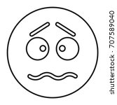 afraid face icon in outline... | Shutterstock .eps vector #707589040