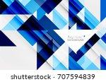 triangle pattern design... | Shutterstock .eps vector #707594839