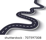 3d winding road on a white... | Shutterstock .eps vector #707597308