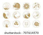 asian design elements. | Shutterstock .eps vector #707614570
