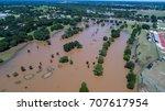 hurricane harvey floods small... | Shutterstock . vector #707617954