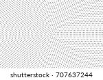 halftone dotted background.... | Shutterstock .eps vector #707637244
