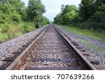 Old Restored Train Tracks In...