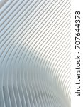 Small photo of New York City, NY, USA - August 31, 2017 : The Ocolus, the new World Trade Center Transportation Hub adjacent to the memorial site in downtown Manhattan designed by architect Santiago Calatrava.