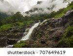 Misty Green Waterfall