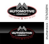 automotive company   vector... | Shutterstock .eps vector #707650894