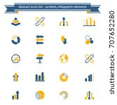 a 20 abstract icon set  ... | Shutterstock .eps vector #707652280