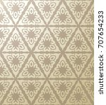 vintage seamless  golden pink... | Shutterstock .eps vector #707654233