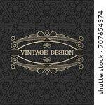 vector. vintage seamless... | Shutterstock .eps vector #707654374