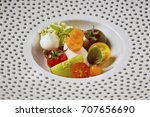 beautiful and tasty food on a... | Shutterstock . vector #707656690