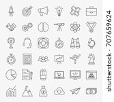 startup line icons. vector set... | Shutterstock .eps vector #707659624
