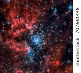 Small photo of NGC 3603 is an open cluster of stars situated in the Carina spiral arm of the Milky Way around 20,000 light-years away. Elements of this image furnished by NASA.