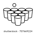 beer pong or beirut drinking... | Shutterstock .eps vector #707669224