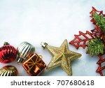 beautiful christmas decoration... | Shutterstock . vector #707680618