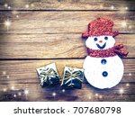christmas decoration on the... | Shutterstock . vector #707680798