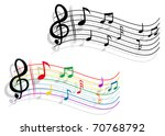 abstract notes with music... | Shutterstock . vector #70768792